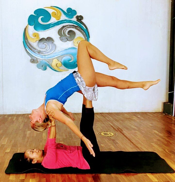 Acro Yoga or Couple Yoga is also called Tandem