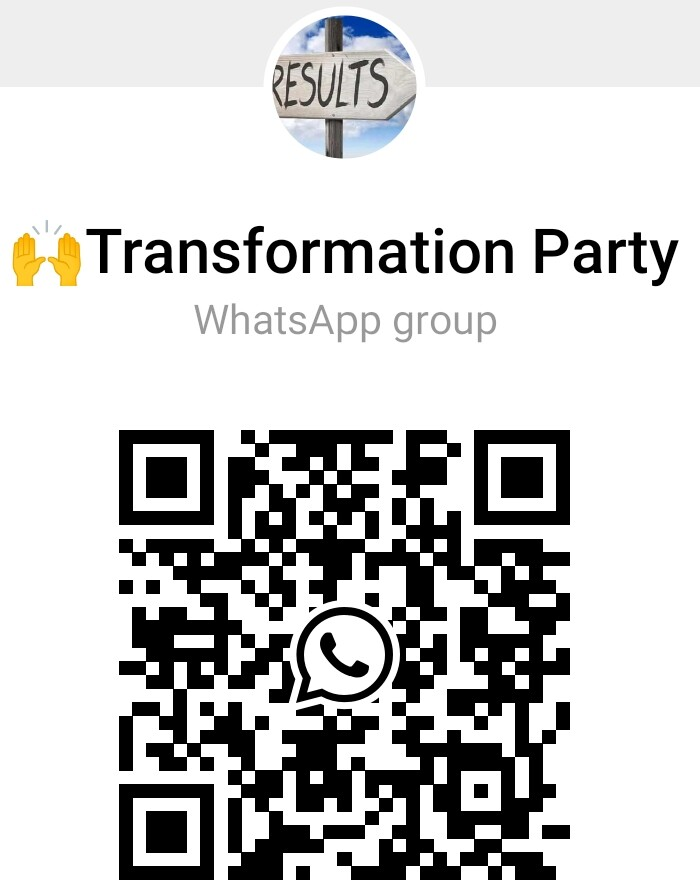 Scan this Transformation Party With The WhatsApp QR Code Scanner of Your Mobile Phone